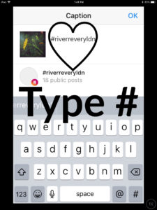 image type hashtag screenshot of instagram for how do I become part of the story
