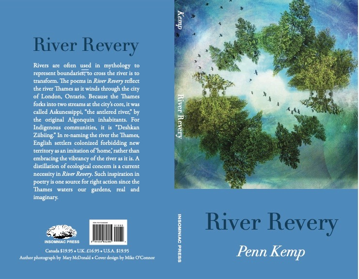Cover by Mary McDonald for River Revery by Penn Kemp