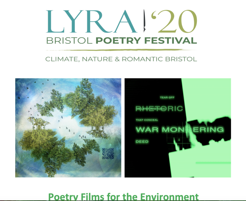 Screenshot of Lyra '20 Bristol Poetry Festival program booklet featuring #Stay at Home River Revery Updates.