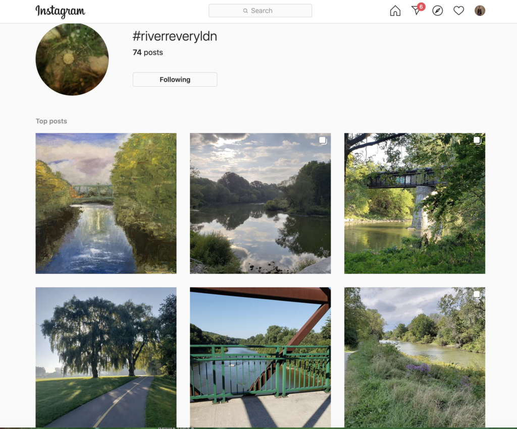 #RiverReveryLdn Instagram screenshot for #Stay at Home River Revery Updates post